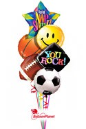 Sports TrioBack to School Balloon Bouquet (6 Balloons) delivery in East Meadow