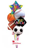 Major SportsBack to School Balloon Bouquet (6 Balloons) delivery in East Meadow