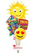 Sunny SmileBack to School Balloon Bouquet (5 Balloons) delivery in East Meadow