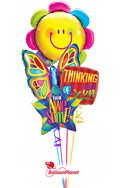 Flower PowerBack to School Balloon Bouquet (4 Balloons) delivery in East Meadow