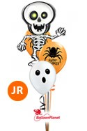Halloween MixJr Bouquet w/Skeleton Balloon Bouquet (3 Latex, 1 Mylar) delivery in Boston