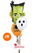 Halloween MixJr Bouquet w/Monster Balloon Bouquet (3 Latex, 1 Mylar) delivery in Boston