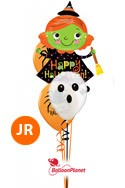 Halloween MixJr Bouquet w/Witch Balloon Bouquet (3 Mylars) delivery in Boston