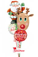 Christmas Bouquet (4 Mylar Balloons) delivery in Sherman Oaks
