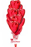 Simply RedValentine's Hearts Balloon Bouquet (12 Heart Balloons) delivery in Washington