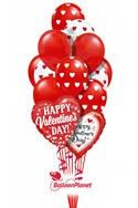 Heart PrintsValentine's Balloon Bouquet (15 Balloons) delivery in Washington