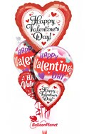 Big Heart Mylar MixValentine's Balloon Bouquet (5 Balloons) delivery in Washington