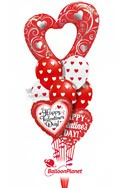 Open Heart Latex MixValentine's Balloon Bouquet (9 Balloons) delivery in Washington