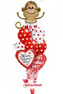 Love Monkey Latex MixValentine's Balloon Bouquet (9 Balloons) delivery in Washington