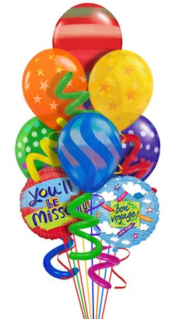 Twisty Bon Voyage Balloon Bouquet (9 Balloons)
