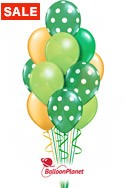 St Patrick's DayGreen/Gold Bouquet (17 Balloons) delivery in Wellington