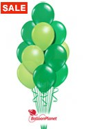 St Patrick's DayEmerald and Lime Balloon Bouquet (17 Balloons) delivered in Sherman Oaks