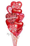 Valentine's Day HeartsNo Love Messages Balloon Bouquet (12 Balloons) delivery in Glendale