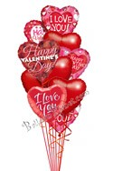 Valentine's Day HeartsLove Mix Balloon Bouquet (12 Balloons) delivered in Raleigh
