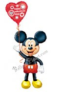 Valentine's Day Mickey Airwalker Balloon Bouquet (2 Balloons) delivered in Cleveland