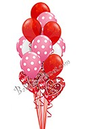Valentine's Day Pink Polka Dots Balloon Bouquet (13 Balloons) delivery in Honolulu