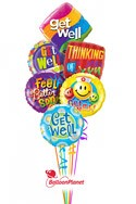 Cheerful ExpressionsGet Well Balloon Bouquet (6 Mylars) delivered in Miami