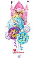 Disney PrincessGet Well Balloon Bouquet (4 Mylars) delivered in Henderson