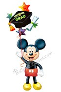 Grad Cap Mickey Balloon Bouquet (2 Balloons) delivery in Marietta