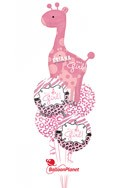 It's A Girl GiraffePersonalized Name Balloon Bouquet (5 Balloons) delivered in Jersey City