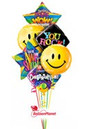 Congratulations Balloon Bouquet (6 Balloons) delivered in San Jose