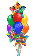 Congratulations Balloon Bouquet (9 Balloons) delivered in Santa Clarita