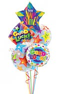 Good Luck Dots & Stars Balloon Bouquet (5 Balloons) delivered in Olathe