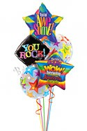 Rock Star Back to School Balloon Bouquet (5 Balloons) delivery in San Francisco