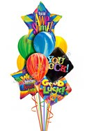 Tie Dye Back to School Balloon Bouquet (10 Balloons) delivery in San Francisco