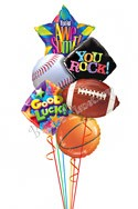 Good Luck Sport Back to School Balloon Bouquet (6 Balloons) delivery in San Francisco