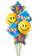 Big Smiles Thank You Balloon Bouquet (6 Balloons) delivered in Corpus Christi