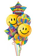 Big Smiles Welcome Balloon Bouquet (6 Balloons) delivered in Washington