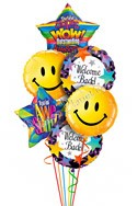 Big Smiles Welcome Back Balloon Bouquet (6 Balloons) delivered in Carson