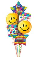 Big Smiles Welcome Home Balloon Bouquet (6 Balloons) delivered in North Las Vegas