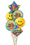 Big Smiles We'll Miss You Balloon Bouquet (6 Balloons) delivered in Brampton
