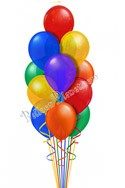 Classic Rainbow Just For Fun Balloon Bouquet (13 Balloons) delivered in San Francisco