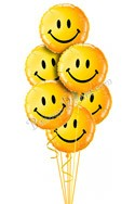 Smiling Faces Just For Fun Balloon Bouquet (6 Balloons) delivered in Honolulu