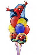 Spiderman Birthday I Super Shape Balloon Bouquet (9 Balloons) delivered in Detroit