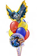 Batman Birthday I Super Shape Balloon Bouquet (8 Balloons) delivered in Santa Clarita