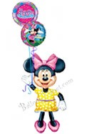 Minnie Birthday III Airwalker Balloon Bouquet (3 Balloons) delivered in Jersey City