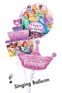 Princess Birthday VI Singing/Cake/Crown Balloon Bouquet (3 Balloons) delivered in Wellington