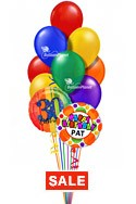 Birthday Balloon BouquetCustom Name & Age Select Your Colors (2 Mylars, 10 Latex) delivered in Sherman Oaks