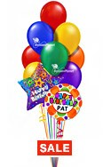 Birthday Balloon BouquetCustom NameSelect Your Colors (12 Balloons) delivered in Santa Clarita