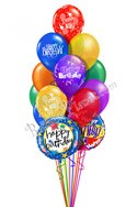 Classic Combo Birthday Balloon Bouquet (15 Balloons) delivered in Milwaukee