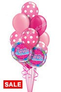 Dots in Pink Birthday Balloon Bouquet (14 Balloons) delivered in Sherman Oaks