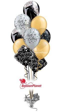 Elegant Celebration  Birthday  Balloon Bouquet  (12 Balloons)