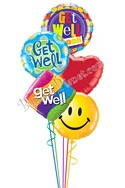 Get Well Expressions II Balloon Bouquet (5 Balloons) delivered in Orlando