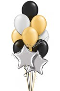 Elegant Celebration Anniversary Stars Balloon Bouquet (12 Balloons) delivered in East Meadow