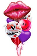 A Kiss and a Smile Valentine's Balloon Bouquet (7 Balloons) delivered in North Las Vegas