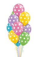 Pastel Polka DotsJust For Fun Balloon Bouquet (13 Balloons) delivered in Newark